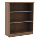 Alera Valencia Series Bookcase, Three-Shelf, 31 3/4w x 14d x 39 3/8h, Modern Walnut