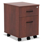 Alera Valencia Series Mobile Box/File Pedestal, 14 3/4 x 19 1/8 x 22 7/8, Med. Cherry
