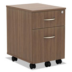 Alera Valencia Series Mobile Box/File Pedestal, 14 3/4 x 19 1/8 x 22 7/8,Modern Walnut