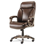 Alera Veon Series Executive High-Back Leather Chair, Brown
