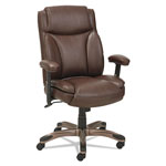 Alera Veon Series Leather Mid-Back Manager's Chair w/Coil Spring Cushioning, Brown
