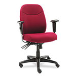 Alera Wrigley Series High Back Multifunction Chair with Burgundy Upholstery