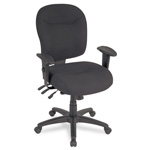 Alera Wrigley Series Mid Back Swivel Task Chair, Black