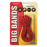 Alliance Rubber 7 x 1/8 inch, Red, 12/Pack