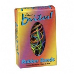 Alliance Rubber Brites Rubber Bands, 1 1/2 oz, Assorted Sizes/Colors