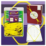 "Alliance Rubber Corner Rubber Bands, 8 1/2"", Yellow"