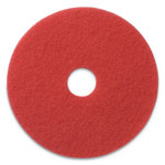 "Americo® Buffing Pads, 17"" Diameter, Red, 5/CT"