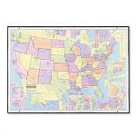 American Map Clearty U.S. Business/Marketing Full Color Laminated Wall Map, 50w x 38h