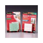 "3M Precut Foam Mounting 1"" Squares, Double Sided, 16 Squares/Pack"