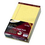 "Ampad Perforated Pads, Legal, 50 Sheets, 8-1/2""x14"", 12/Pack, Canary"