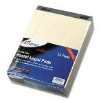 Ampad Ivory Legal Ruled Pads, 8 1/2 x 11 3/4, 50 Sheets/Pad, Dozen