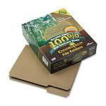 Ampad File Folders, 100% Recycled, Letter Size, Natural Brown, 100 Per Box
