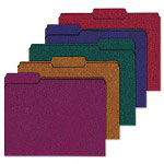 Ampad 100% Recycled Color File Folders, 1/3 Cut, 11 Pt Stock, Letter, Assorted, 50/Box