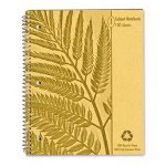 Ampad 100% Recycled Wirebound Notebook, 100% Recycled, 11 x 8- 7/8
