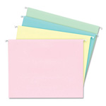 Ampad Hanging File Folders, Letter Size, 1/5 Cut, Assorted Pastels, 20 Per Box