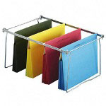 "Ampad Recycled Hanging File Pockets, 3 1/2"" Exp, Legal, Assorted"