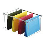 "Ampad Recycled Hanging File Pockets, 3 1/2"" Expansion, Legal Size, Assorted Colors"