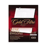 "Ampad White Fastrip Pull and Seal Security Envelope, 9"" x 12"""