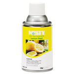 Misty Metered Dry Deodorizer Refills, Lemon Peel, 7oz, Aerosol, 12/Carton
