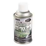 Misty Metered Odor Neutralizer Refills, Alpine Mist, 7oz, Aerosol, 12/Carton