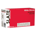 Ammex Slate Powder Free, Textured, Black Nitrile Gloves, XLarge