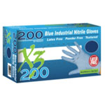 Ammex Xtreme X3200 Powder Free, Blue Nitrile Gloves, Large