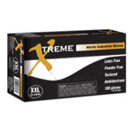 Ammex Xtreme Powder Free, Textured, Blue Nitrile Gloves, XXLarge