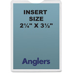 "Anglers Company Envelope, Self Stick Poly, 2.25"" x 3.5"", 50/PK, Clear"