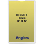 "Anglers Company Envelope, Self Stick Poly, 3"" x 5"", 50/PK, Clear"