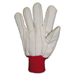 Anchor Heavy Canvas Gloves, White/Red, 12 Pairs