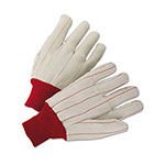 Anchor 1000 Series Canvas Gloves, White/Red, Large