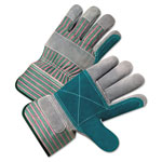 Anchor 2000 Series Leather Palm Gloves, Gray/Green/Red, 12 Pairs