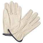 Anchor 4000 Series Leather Driver Gloves, White, Large, 12 Pairs