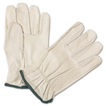 Anchor 4000 Series Leather Driver Gloves, White, Medium, 12 Pairs