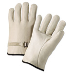 Anchor 4000 Series Leather Driver Gloves, Natural, Large, 12 Pairs