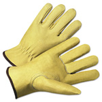 Anchor 4000 Series Pigskin Leather Driver Gloves, Beige, Large, 12 Pairs