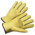 Anchor 4000 Series Pigskin Leather Driver Gloves, Beige, Extra Large, 12 Pairs