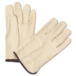 Anchor 4000 Series Pigskin Leather Driver Gloves, Large, Yellow, 12 Pairs