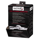 "Anchor Lens Cleaning Towelettes, 5 In X 8"", White, 100/box"