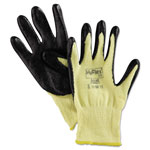 Ansell Kevlar /Foam CR Knit Gloves, Yellow, Medium