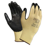 Ansell HyFlex CR Gloves, Size 7, Yellow/Black, Kevlar/Nitrile, 24/Pack