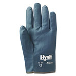 Ansell Hynit Nitrile-Impregnated Gloves, Size 10