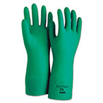 Ansell Sol-Vex Sandpatch-Grip Nitrile Gloves, Green, Size 9, 12 Pairs