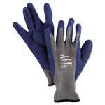 Ansell PowerFlex Gloves, Blue/Gray, Size 10, 1 Pair