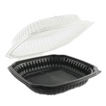 Anchor Packaging Culinary Classics Microwavable Container, 39 oz, Clear/Black, 100/Carton