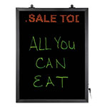 Artistic Office Products LED Erasable Message Board w/Programmable Message Board, 22 1/2 x 16 1/2, Black