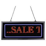 "Artistic Office Products Programmable LED Message Board with Blue Border, 11"" x 25"", Red/Blue"