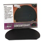 "Artistic Office Products Rhinolin Oval Desk Pad with Transparent Side Pockets, 21 1/4"" X 28"", Black"
