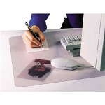 "Artistic Office Products Desk Pad, Plastic, Non Glare, 22""x17"", Clear/Frosted"