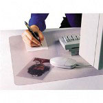 "Artistic Office Products Desk Pad, Plastic, Non Glare, 17""x12"", Clear/Frosted"